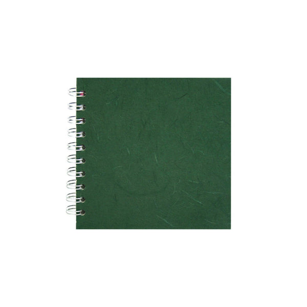 6x6 Square, Dark Green Sketchbook by Pink Pig International