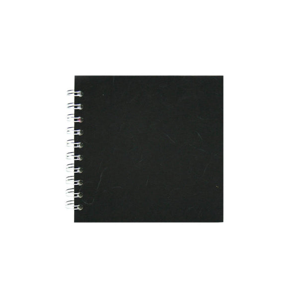 6x6 Square, Black Sketchbook by Pink Pig International
