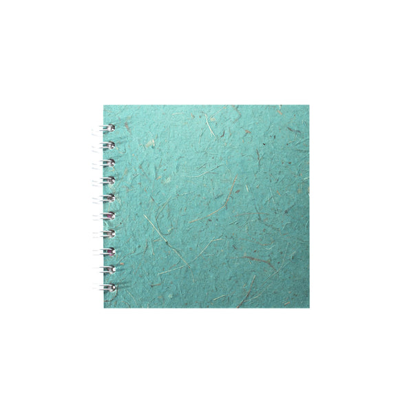 6x6 Square, Turquoise Sketchbook by Pink Pig International