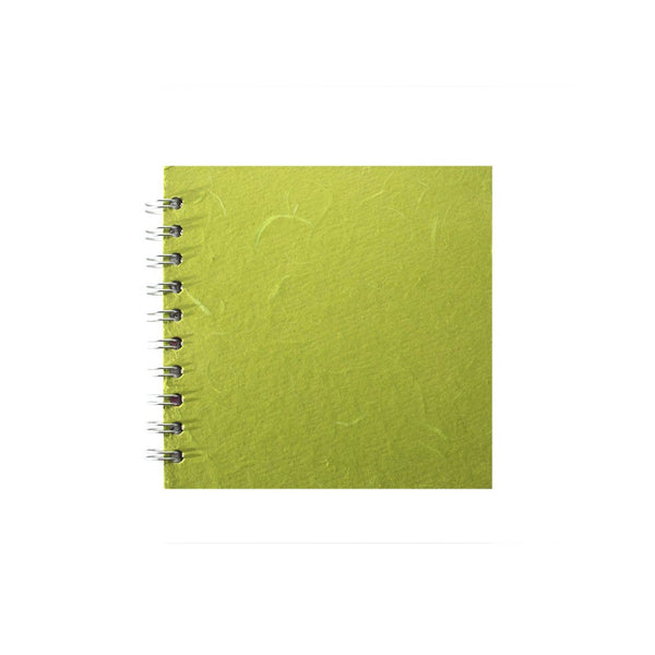 6x6 Square, Lime Green Sketchbook by Pink Pig International