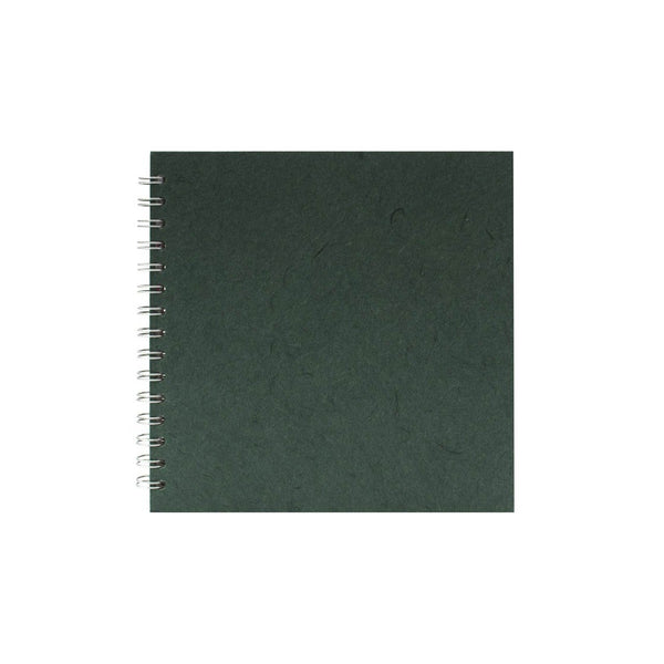 8x8 Square, Dark Green Watercolour Book by Pink Pig International