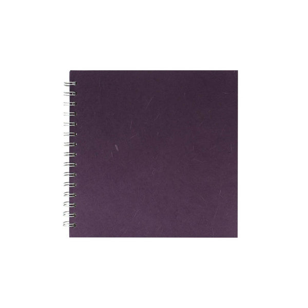 8x8 Square, Aubergine Watercolour Book by Pink Pig International