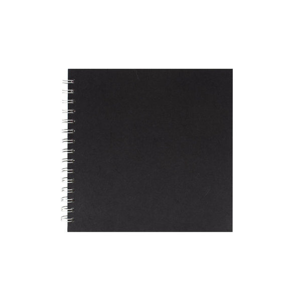 8x8 Square, Black Sketchbook by Pink Pig International