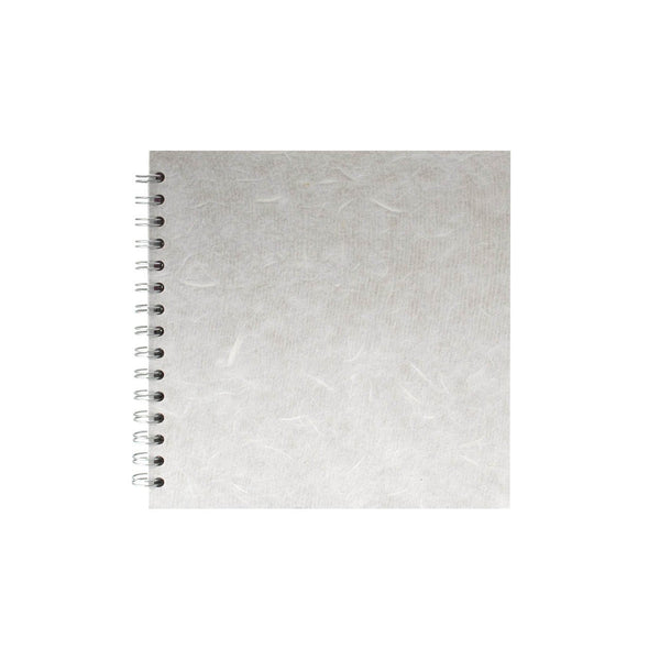 8x8 Square, White Sketchbook by Pink Pig International