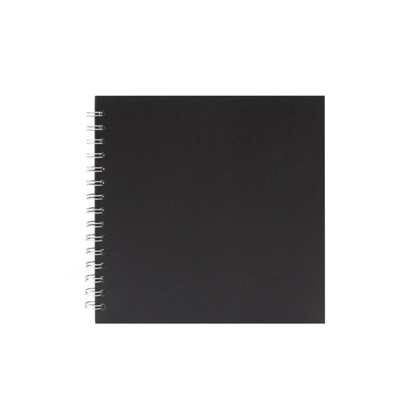 8x8 Square, Eco Black Watercolour Book by Pink Pig International