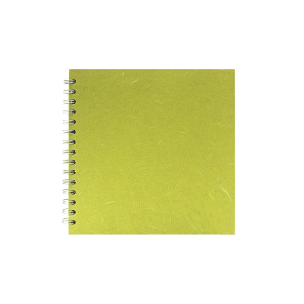 8x8 Square, Lime Green Sketchbook by Pink Pig International