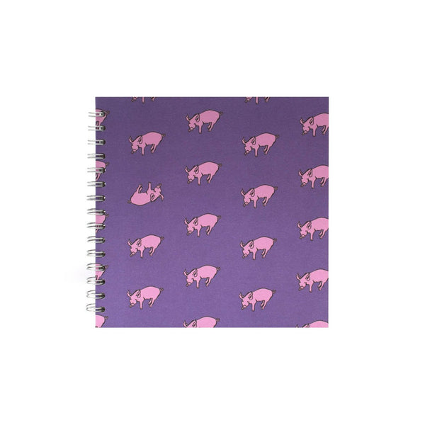 8x8 Square, Beetroot Purple Sketchbook by Pink Pig International