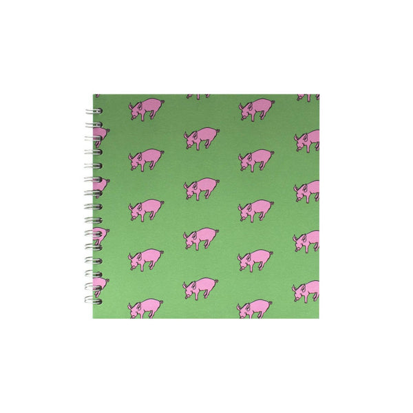 8x8 Square, Meadow Green Sketchbook by Pink Pig International