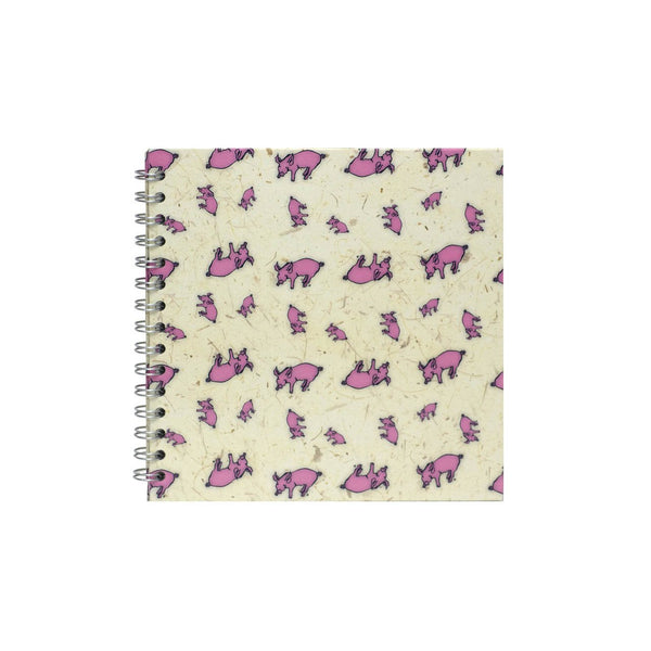 8x8 Square, Random Pig Sketchbook by Pink Pig International