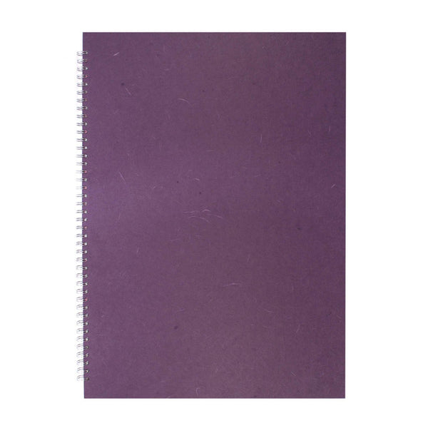 A2 Portrait, Aubergine Display Book by Pink Pig International