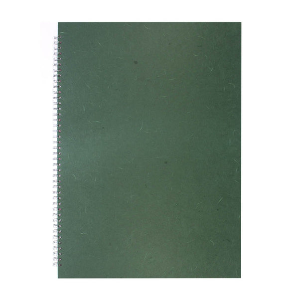 A2 Portrait, Dark Green Sketchbook by Pink Pig International