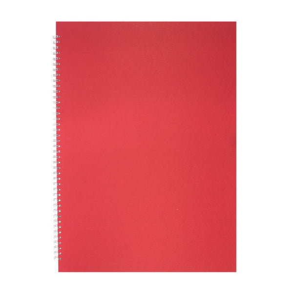 A2 Portrait, Eco Red Sketchbook by Pink Pig International
