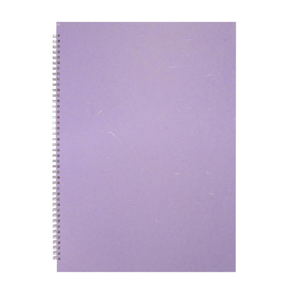A2 Portrait, Lilac Sketchbook by Pink Pig International