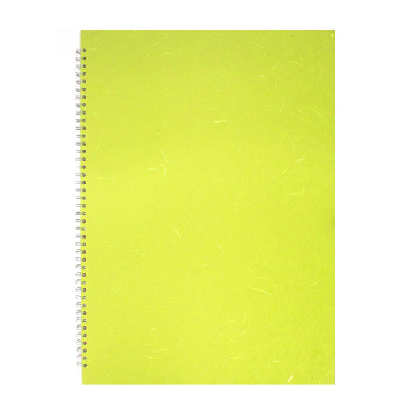 A2 Portrait, Lime Green Display Book by Pink Pig International
