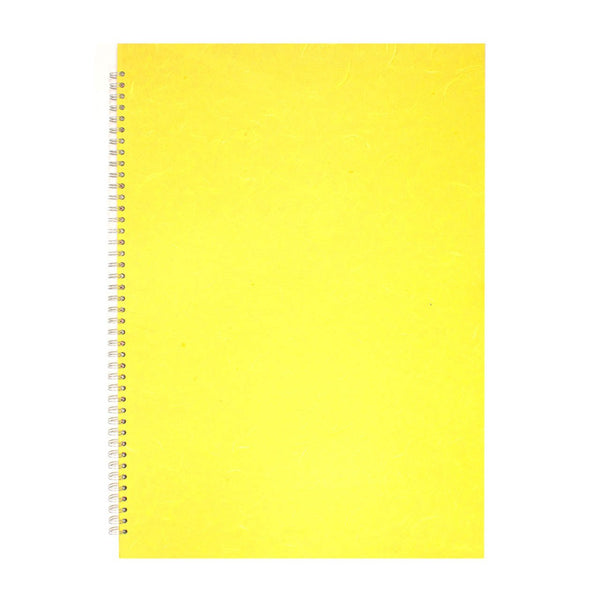 A2 Portrait, Yellow Sketchbook by Pink Pig International