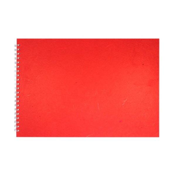 A3 Landscape, Red Watercolour Book by Pink Pig International