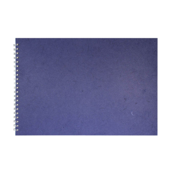 A3 Landscape, Royal Blue Watercolour Book by Pink Pig International