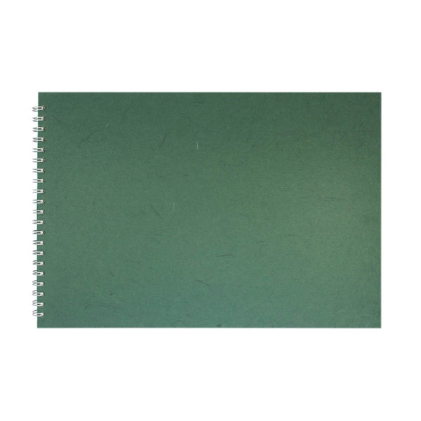 A3 Landscape, Dark Green Sketchbook by Pink Pig International