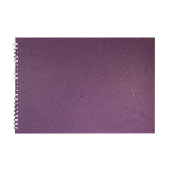 A3 Landscape, Aubergine Watercolour Book by Pink Pig International