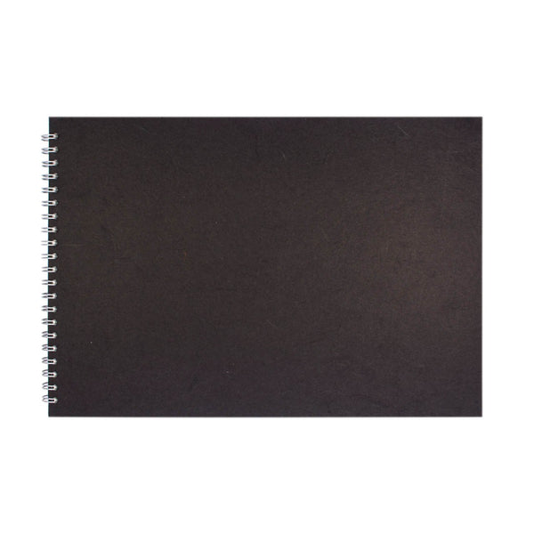 A3 Landscape, Black Sketchbook by Pink Pig International