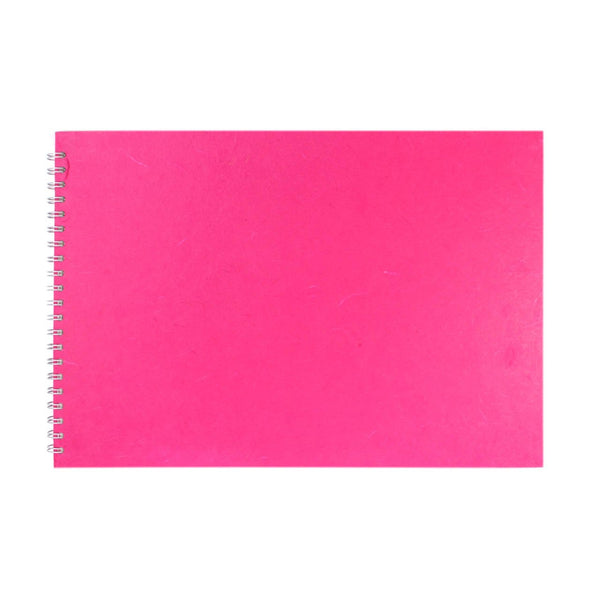 A3 Landscape, Bright Pink Watercolour Book by Pink Pig International