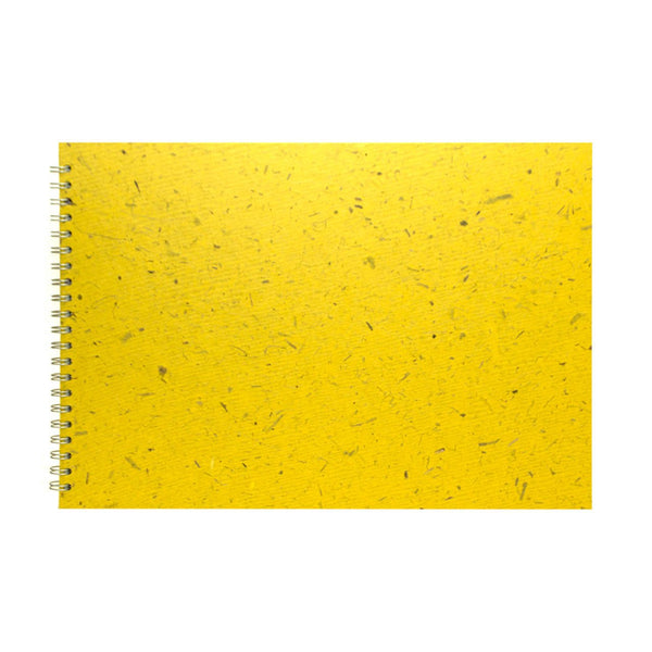 A3 Landscape, Wild Yellow Watercolour Book by Pink Pig International