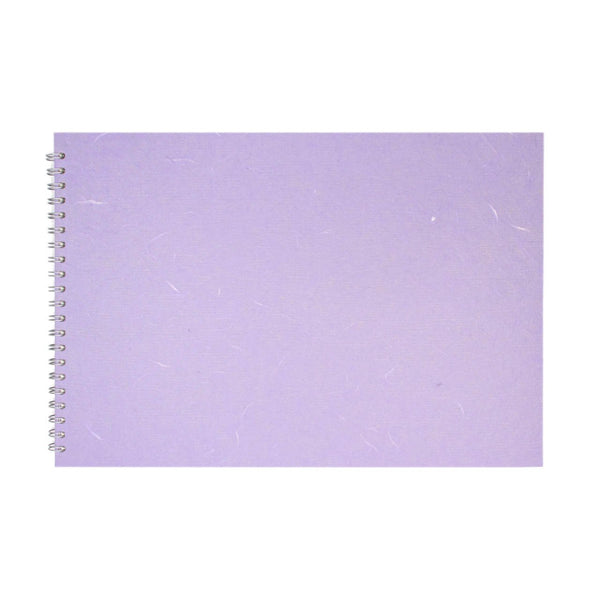 A3 Landscape, Lilac Watercolour Book by Pink Pig International