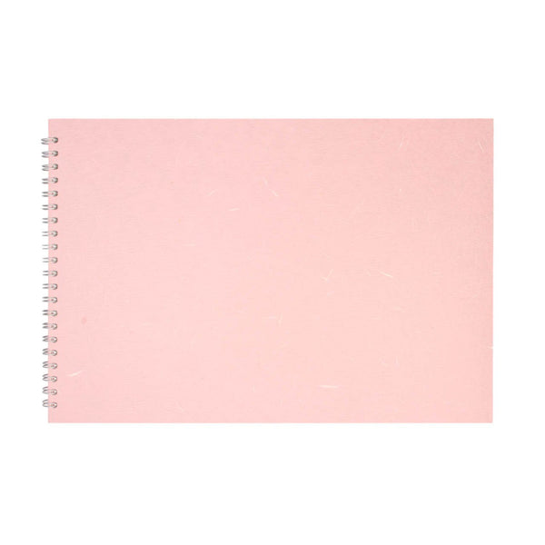 A3 Landscape, Pale Pink Watercolour Book by Pink Pig International