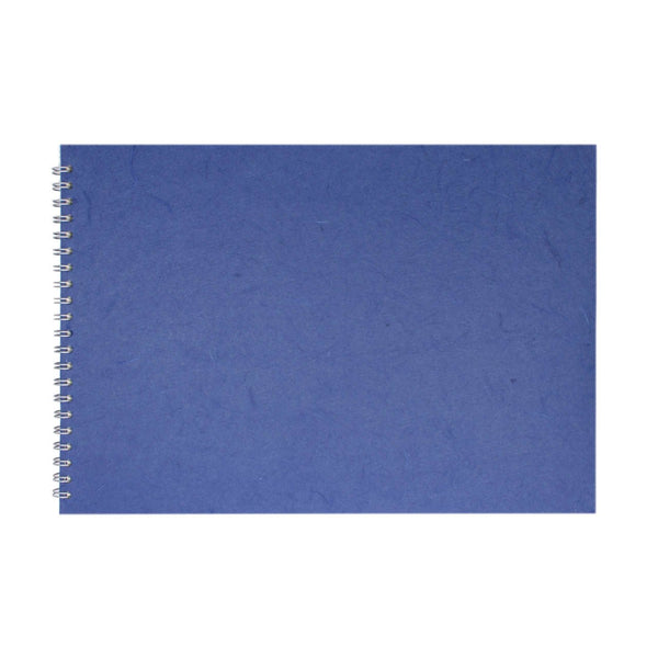 A3 Landscape, Mid Blue Sketchbook by Pink Pig International