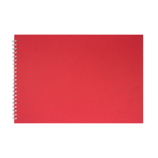 A3 Landscape, Eco Red Watercolour Book by Pink Pig International