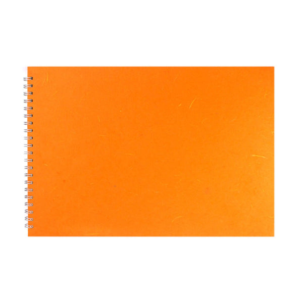 A3 Landscape, Orange Watercolour Book by Pink Pig International