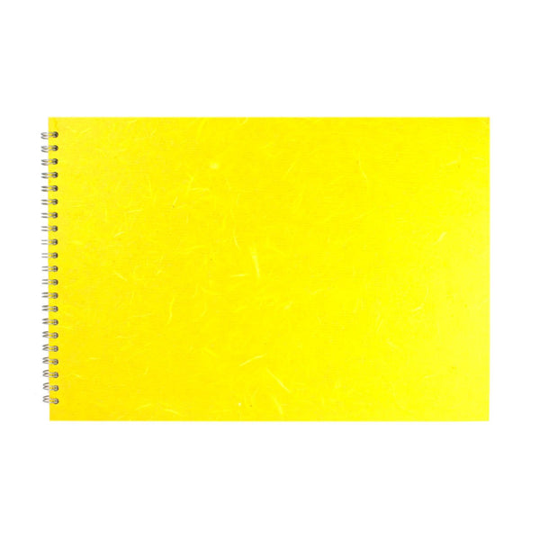 A3 Landscape, Yellow Watercolour Book by Pink Pig International