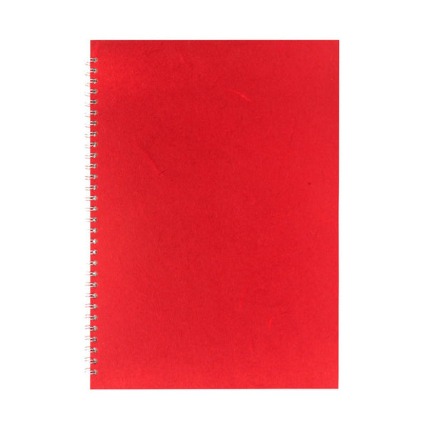 A3 Portrait, Red Sketchbook by Pink Pig International
