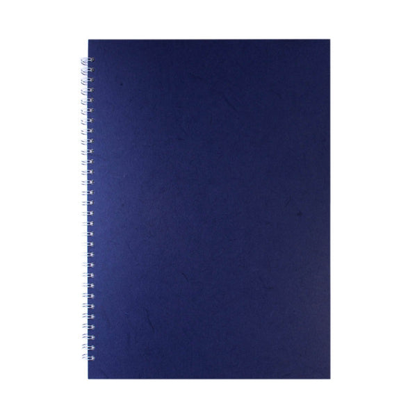 A3 Portrait, Royal Blue Watercolour Book by Pink Pig International
