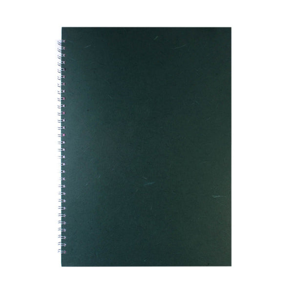 A3 Portrait, Dark Green Watercolour Book by Pink Pig International