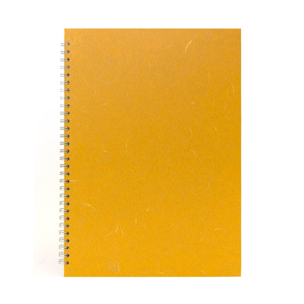 A3 Portrait, Mustard Sketchbook by Pink Pig International