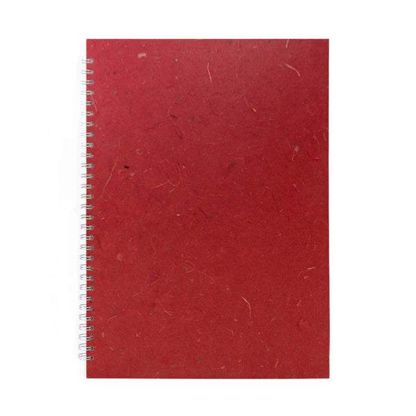 A3 Portrait, Burgundy Sketchbook by Pink Pig International