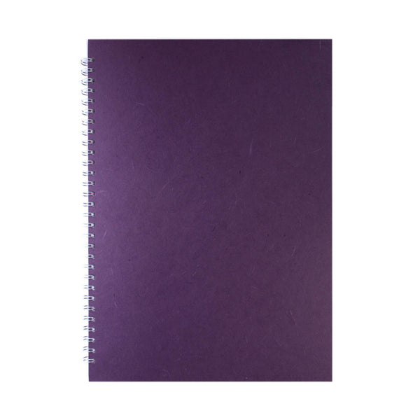 A3 Portrait, Purple Watercolour Book by Pink Pig International