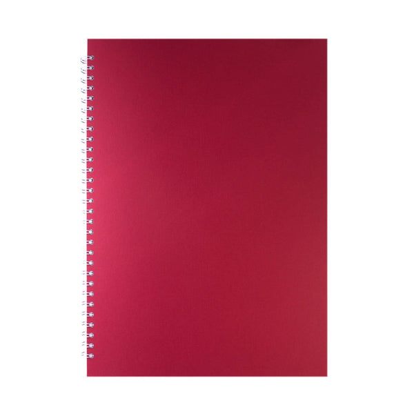 A3 Portrait, Eco Red Sketchbook by Pink Pig International