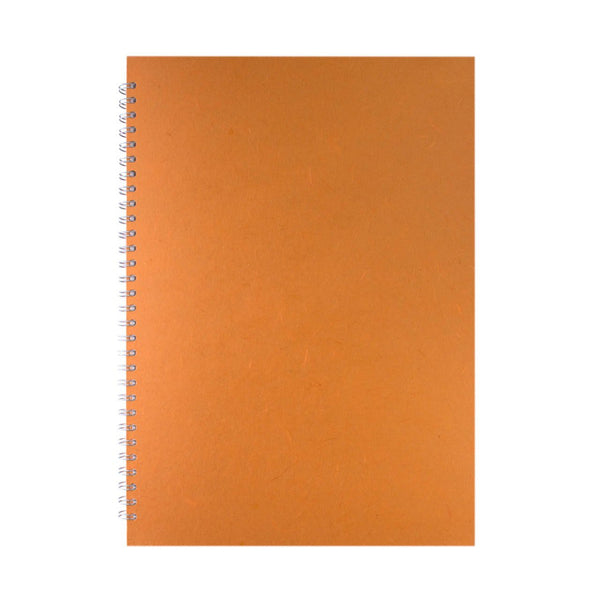 A3 Portrait, Orange Watercolour Book by Pink Pig International