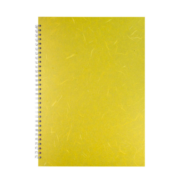 A3 Portrait, Yellow Watercolour Book by Pink Pig International