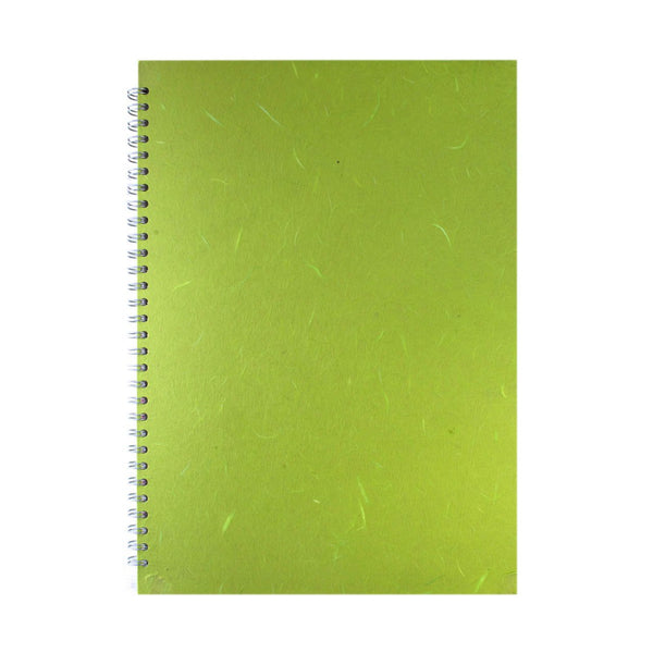 A3 Portrait, Lime Green Watercolour Book by Pink Pig International