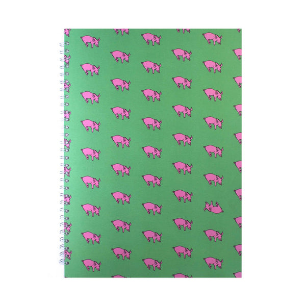 A3 Portrait, Meadow Green Display Book by Pink Pig International