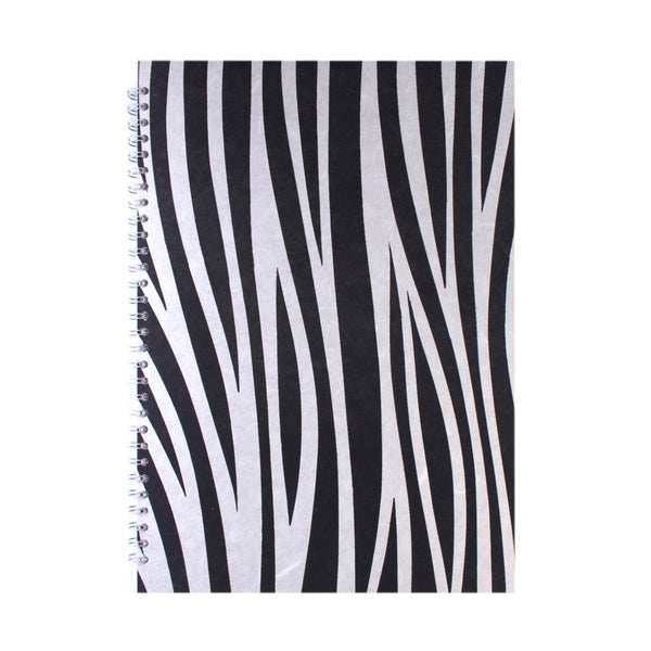 A3 Portrait, Zebra Watercolour Book by Pink Pig International