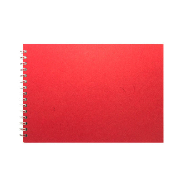A4 Landscape, Red Watercolour Book by Pink Pig International
