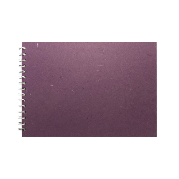 A4 Landscape, Aubergine Watercolour Book by Pink Pig International