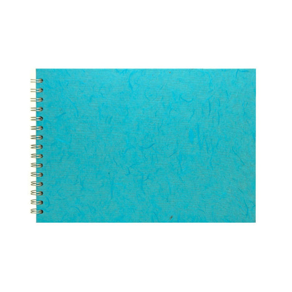 A4 Landscape, Aqua Sketchbook by Pink Pig International