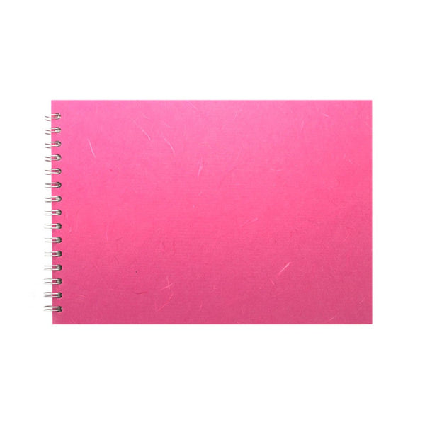 A4 Landscape, Bright Pink Sketchbook by Pink Pig International