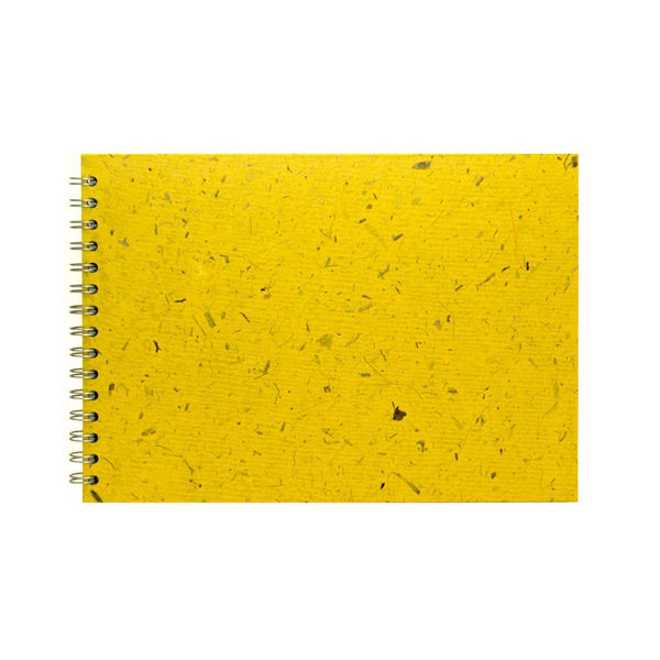 A4 Landscape, Wild Yellow Sketchbook by Pink Pig International