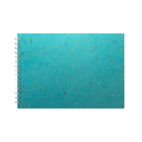 A4 Landscape, Sky Blue Sketchbook by Pink Pig International